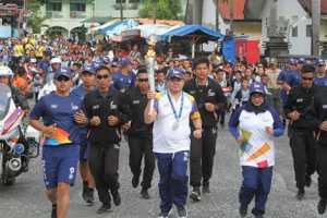 Kirab obor Asian Games 2018 yang dilakukan di beberapa kota di Indonesia. Foto IST