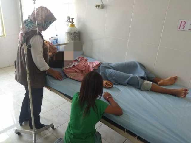 Korban pencabulan dirawat di salah satu Rumah Sakit di Pringsewu, Selasa (14/5/2019). Foto Istimewa