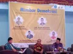Mimbar Demokrasi yang digelar BEM FKIP Unila, Minggu (20/5/2019). Foto Istimewa