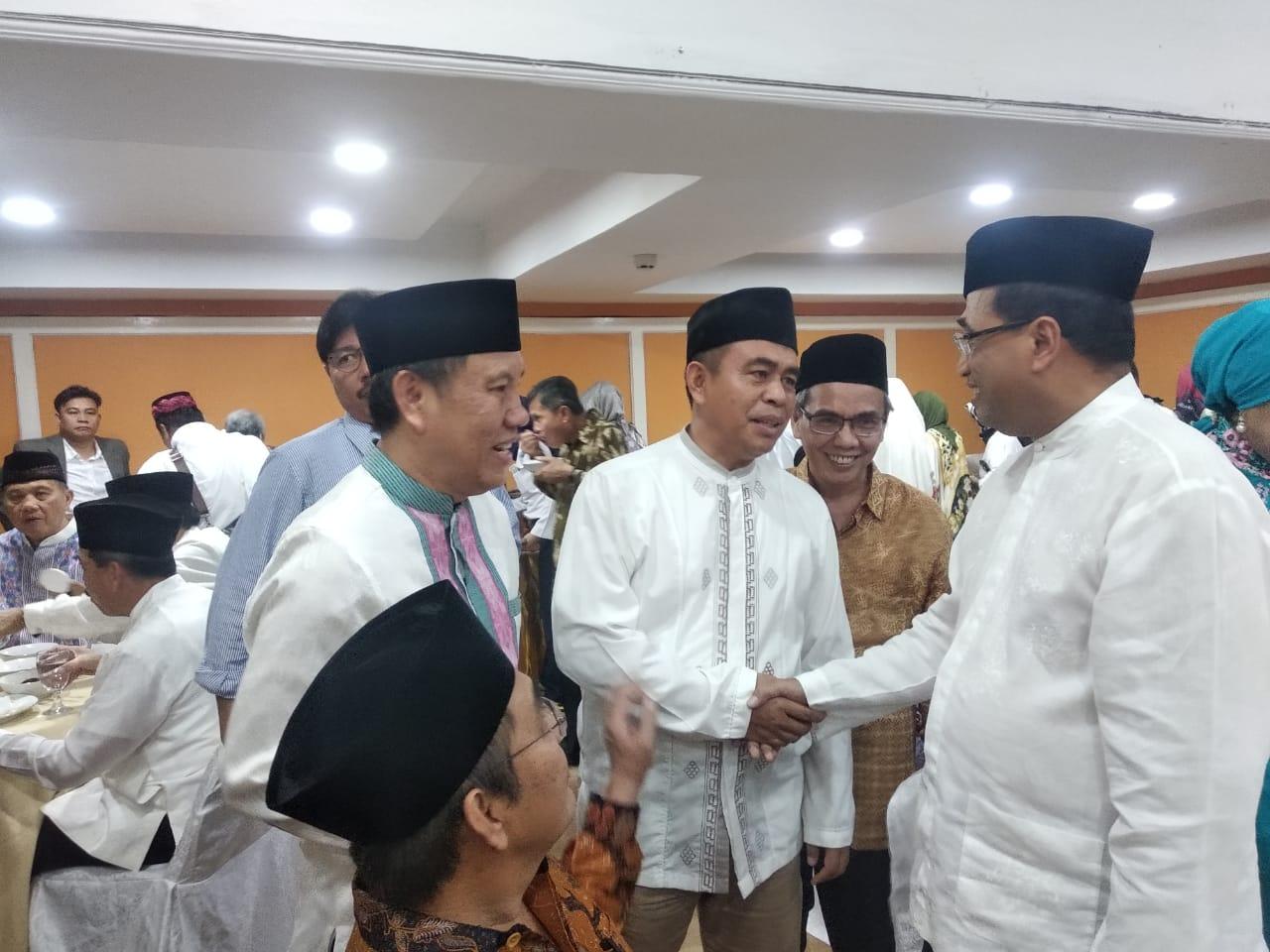 Bustami Zainudin saat pertemuan BKMS berbincang dengan Menhub Budi Karya Sumadi dan Jimly Ashiddigie di Jakarta, Selasa (14/5/2019). Foto Istimewa