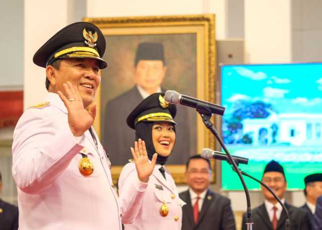 Gubernur dan Wakil Gubernur Lampung Foto: Andhika Prasetia/detikcom