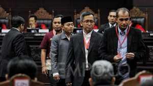 Sejumlah saksi dihadirkan oleh Kuasa Hukum TKN Jokowi - Maaruf Amin selaku pihak terkait pada sidang lanjutan terkait Perselisihan Hasil Pemilihan Umum (PHPU) di Mahkamah Konstitusi, Jakarta, Jumat, 21 Juni 2019. Kuasa Hukum pihak terkait menghadirkan dua saksi Fakta dan dua saksi ahli pada sidang lanjutan. TEMPO/Hilman Fathurrahman W