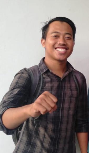Fajar Agung Pangestu selaku Presiden Mahasiswa BEM U KBM Unila. Foto Istimewa