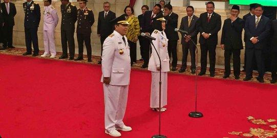 Jokowi Lantik Gubernur dan Wagub Lampung. ©2019 Merdeka.com/Titin Supriatin