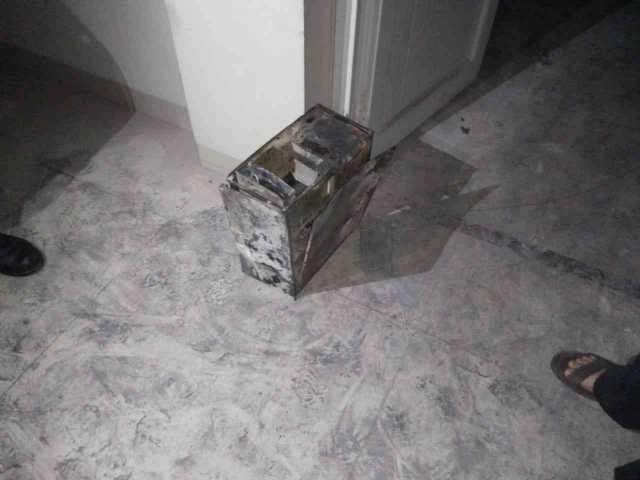 CPU yang terbakar di RS Mitra Husada Pringsewu. Foto Istimewa