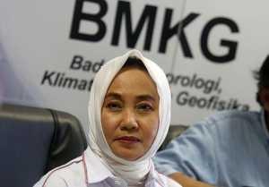 Kepala BMKG Dwikorita Karnawati (Fedrik Tarigan/Jawa Pos)