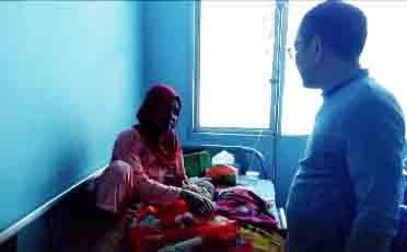 Kondisi Bayu Ahmad Dani (18 bulan) dirawat di Ruang Alamanda RSUDAM Bandar Lampung, Selasa (13/8/2019). Foto DRB Care for radarcom.id