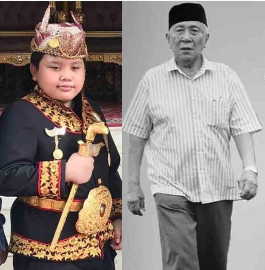 Pangeran Alprinse Syah Pernong (kiri). Foto kanan Almarhum Hi. Mochtar Hasan, SH, glr. Pangeran Indra Bangsawan. Foto Istimewa