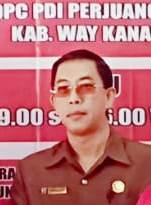 Sekretaris DPC PDIP Way Kanan Drs. H. Hamdani. Foto Istimewa