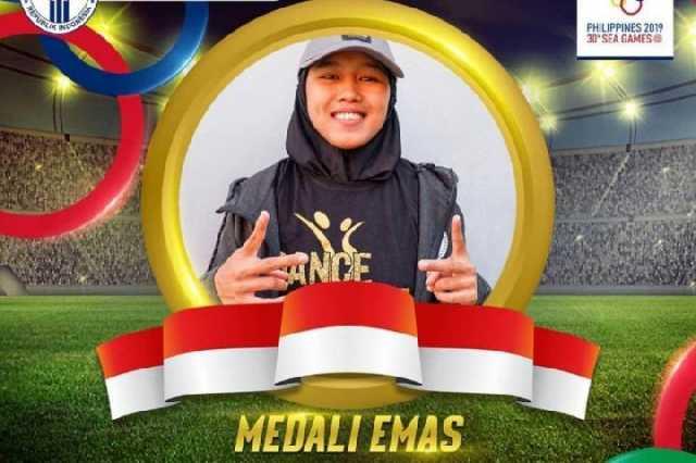 Dwi Cindy Desyana meriah emas SEA Games 2019. (istagram Kemenpora)