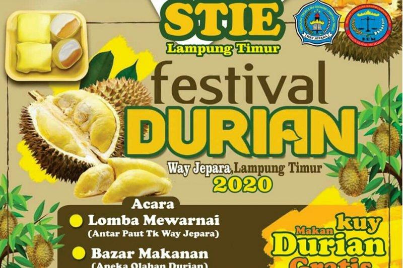 STIE Lampung Timur gelar Festival Durian pada Sabtu (22/2)/foto istimewa