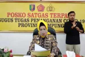 Kepala Dinas Kesehatan Provinsi Lampung Reihana, Kamis. (9/4/2020). (ANTARA/Dian Hadiyatna)