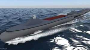 Konsep Kereta Laut dari rangkaian kapal perang tak berawak (USV) yang sedang dikerjakan badan riset pertahanan Amerika Serikat atau DARPA. C4iasrnet.com