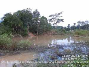 Lokasi bekas tambang yang sebabkan korban jiwa. Foto WALHI Lampung