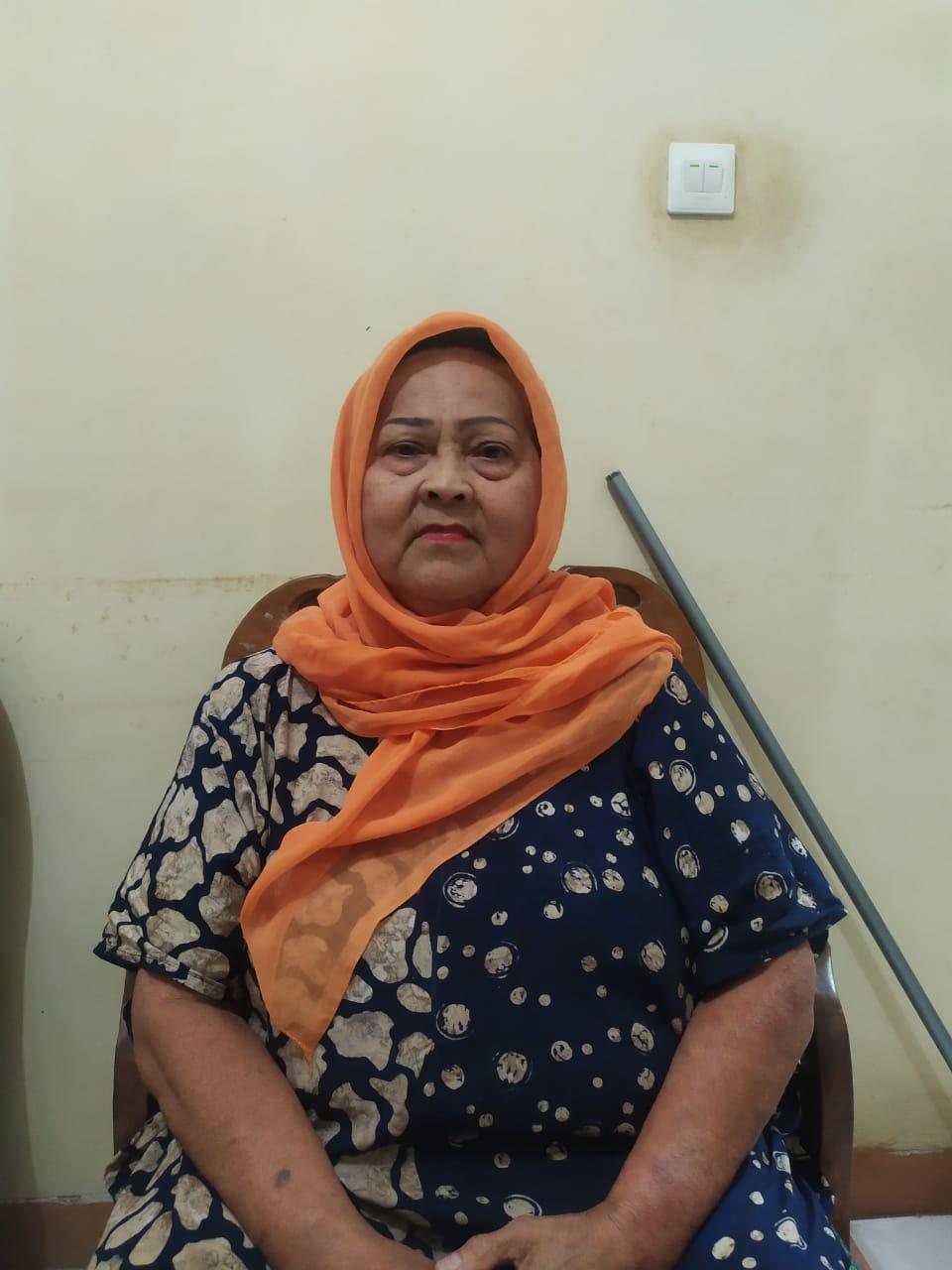Ce' Ya (65) korban hipnotis di RS Urip Sumoharjo. Foto Istimewa