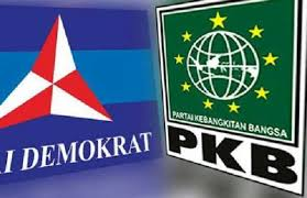 Foto bendera Partai Demokrat dan PKB. Foto Istimewa