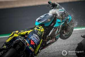 Motor Franco Morbidelli nyaris menghantam Valentino Rossi (Motorsport Images).