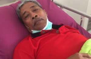 Bupati Lampung Tengah Loekman Djoyosoemarto sedang dalam perawatan di rumah sakit. (28/9/2020). (ANTARA/Dian Hadiyatna)