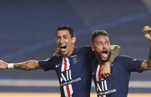 Neymar dan Angel Di Maria positif corona. (AP/David Ramos)
