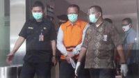 Edhy Prabowo pakai rompi tahanan KPK. Foto : Farih/detikcom
