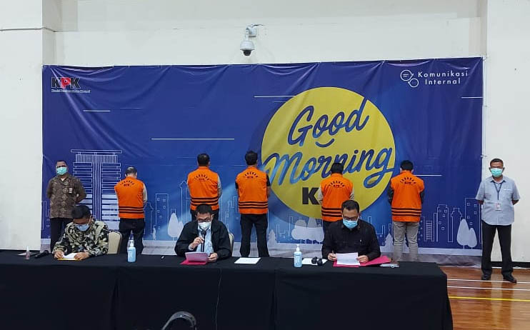 Pasca OTT Menteri Kelautan Perikanan Edhy Prabowo KPK menggelar konpers, Rabu (25/11) malam. Foto Istimewa for radarcom.id