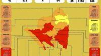 Tangkap layar perubahan zona risiko persebaran COVID-19 di Provinsi Lampung. Bandarlampung, Senin 18/1/2021 (ANTARA/Ruth Intan Sozometa Kanafi)